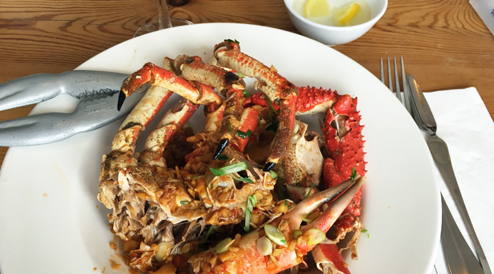 Rick Stein's fish cookery course, Singapore chilli crab
