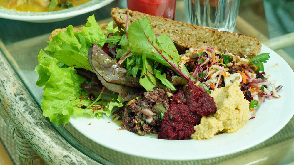 Mezze at the Potager Garden Cafe in Constantine, Cornwall