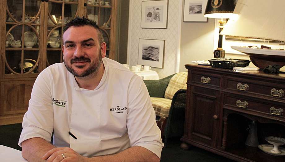 Samphire's Executive Chef Christopher Archambault at The Headland Hotel, Newquay