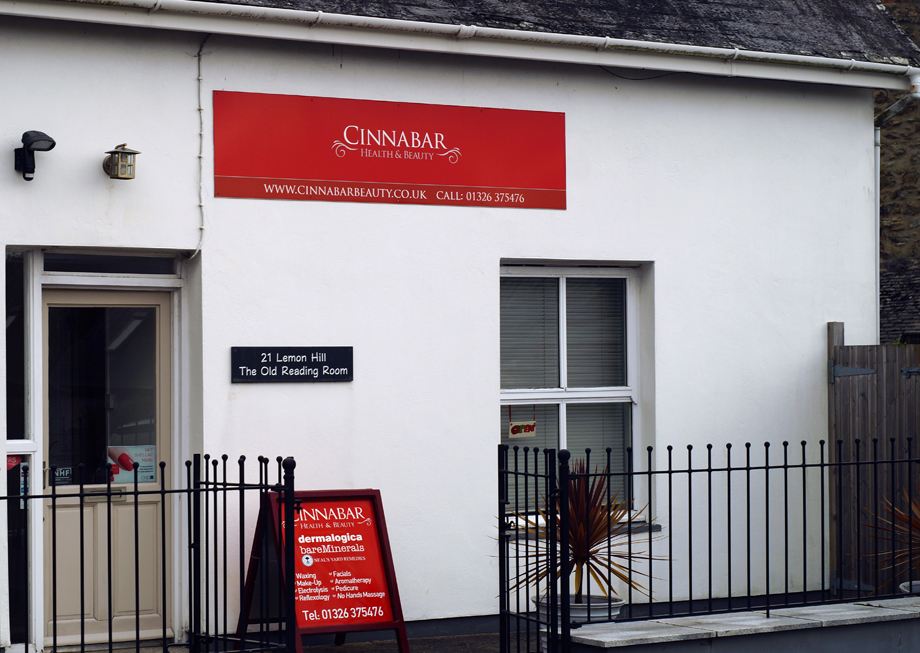 Cinnabar beauty salon, Mylor Bridge, Cornwall, exterior