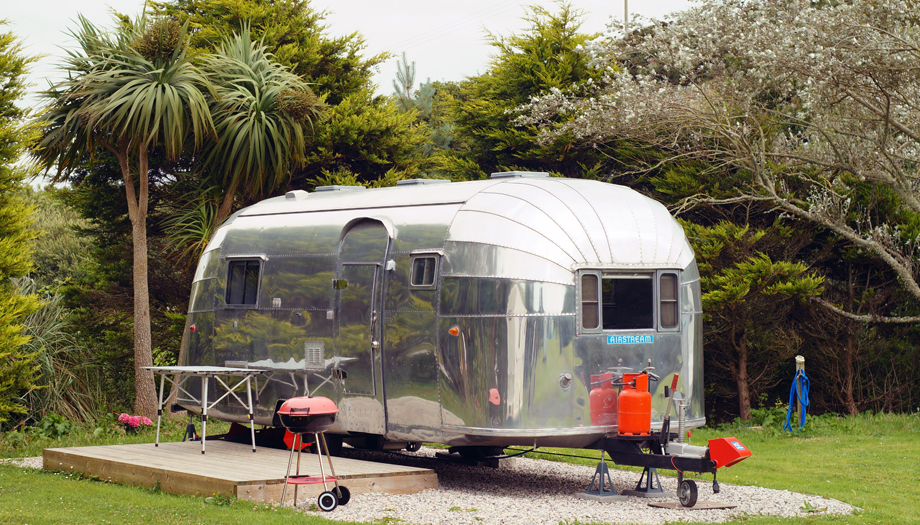glamping airstream Newquay campsite Coastal Valley Camp & Crafts