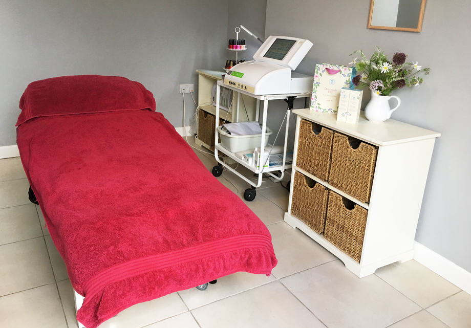 Cinnabar beauty salon, Mylor Bridge, Cornwall, treatment room