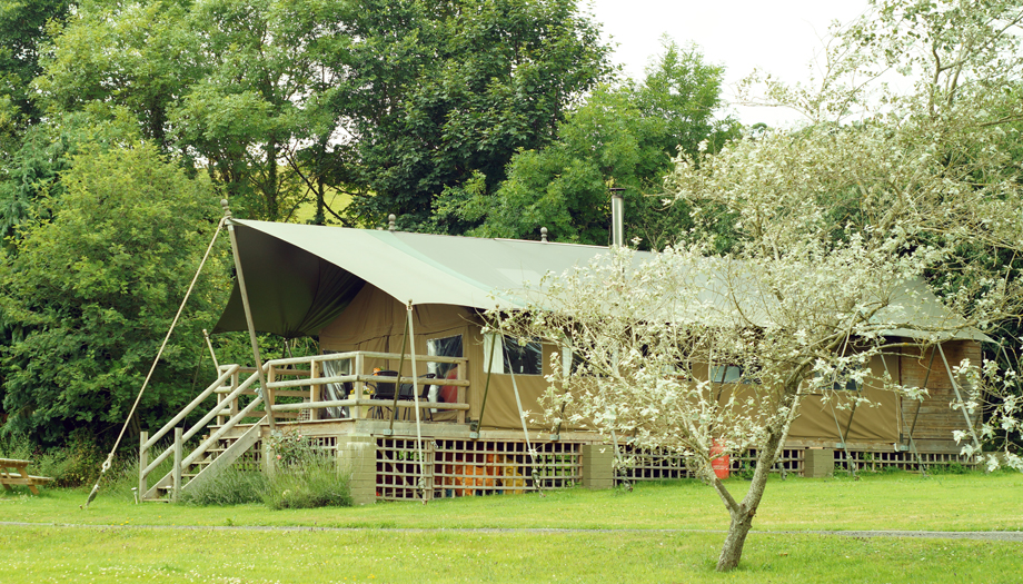glamping safari tent Newquay campsite Coastal Valley Camp & Crafts