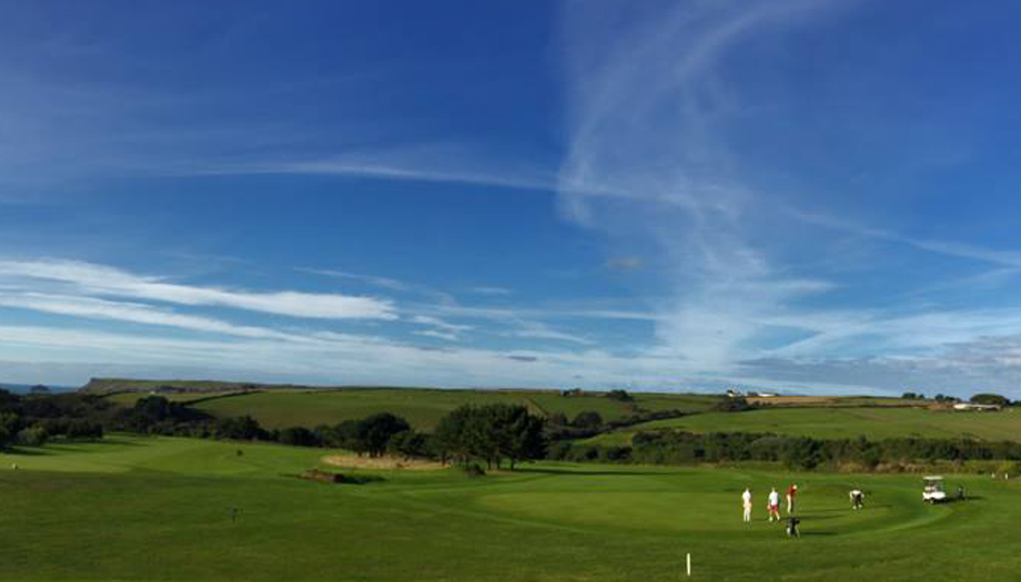 The golf course at The Point Polzeath