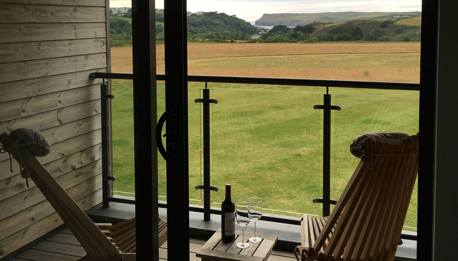 View of Pentire Point from the apartments at The Point at Polzeath