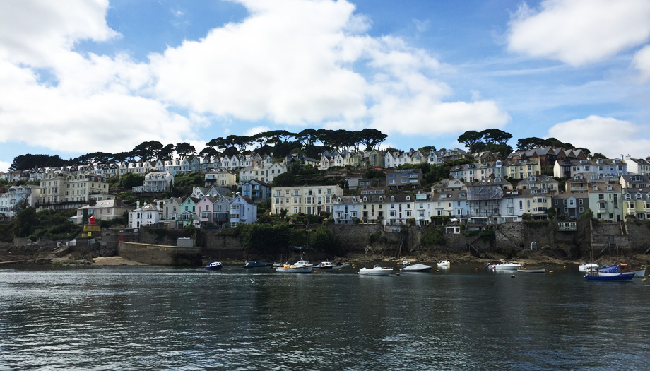 Fowey Cornwall from the water
