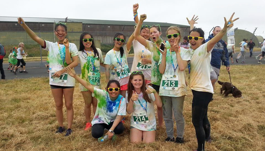 Truro School group on the Rainbow Run