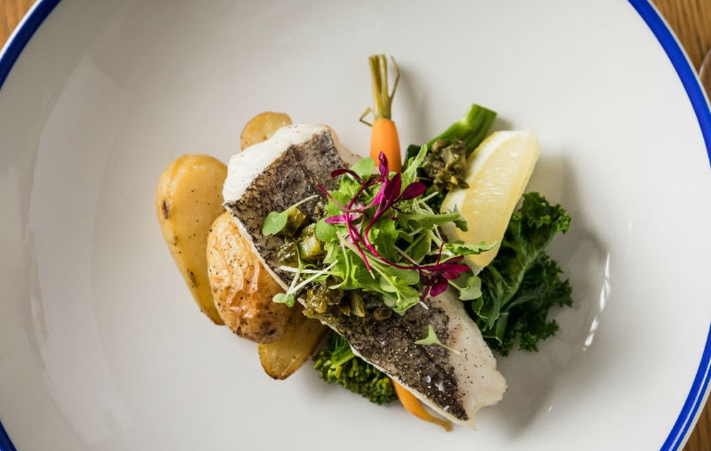 Fresh fish at the restaurant at Godolphin Arms Marazion, featured on Muddy Stilettos
