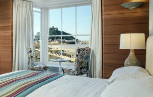 Comfortable sea view rooms at Godolphin Arms Marazion, featured on Muddy Stilettos