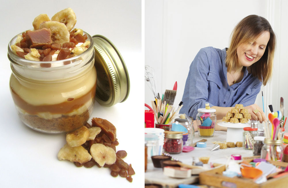 Banoffee trifle recipe by Frances Quinn. Portrait by Georgia Glynn Smith