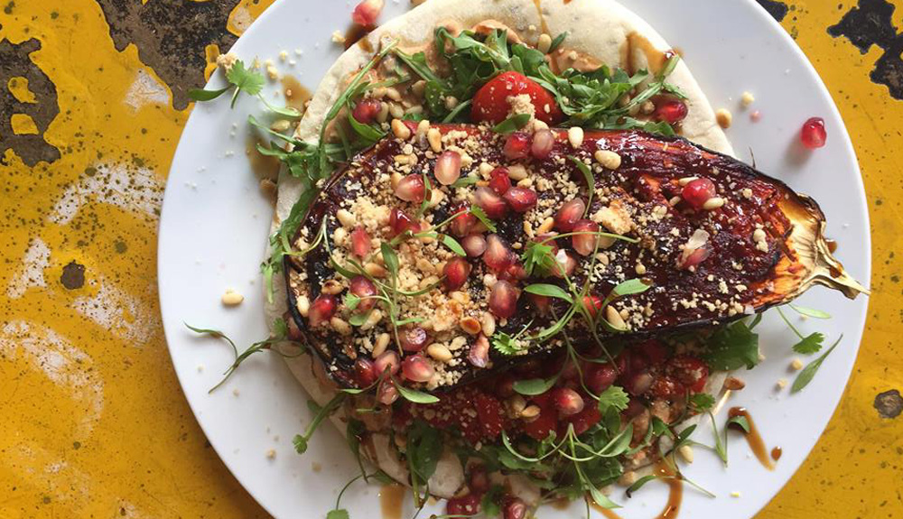Good Vibes Falmouth Aubergine dish