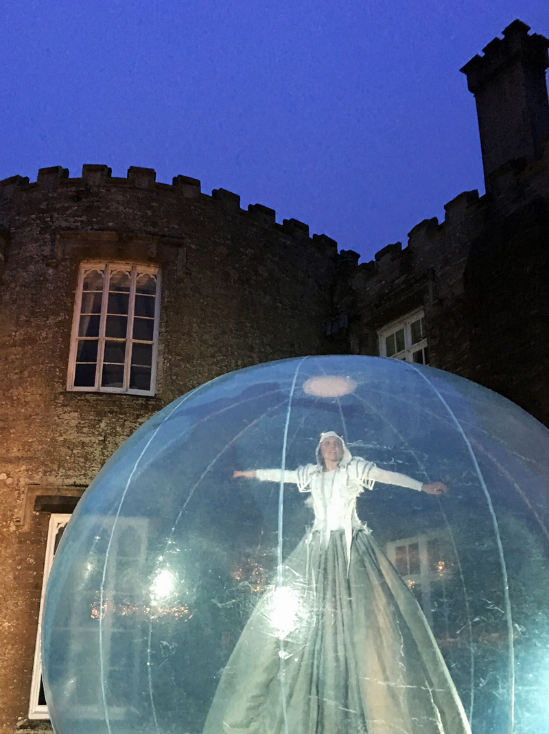 Prideaux Angels, dance performance, Prideaux Place, Padstow Cornwall