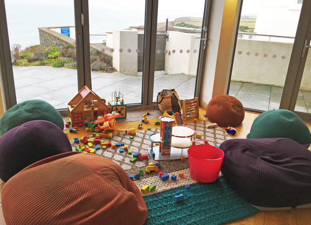 Child-friendly touches, Polurrian Bay Hotel, Lizard Peninsula, Cornwall