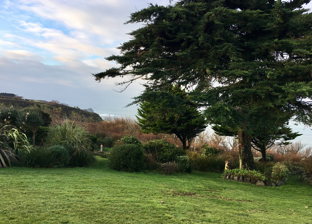 Gardens, Polurrian Bay Hotel, Lizard Peninsula, Cornwall
