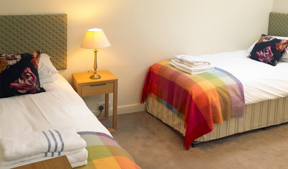 Children's bedroom, family suite, Polurrian Bay Hotel, Lizard Peninsula, Cornwall
