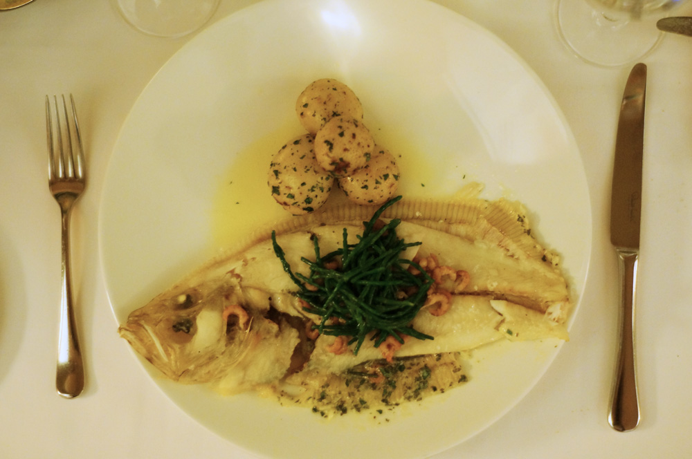 Sole, Polurrian Bay Hotel Restaurant, Lizard Peninsula, Cornwall