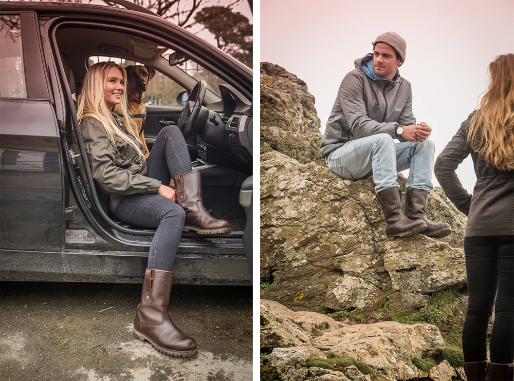 Trailback Unisex Rigger Boots, new Cornish brand