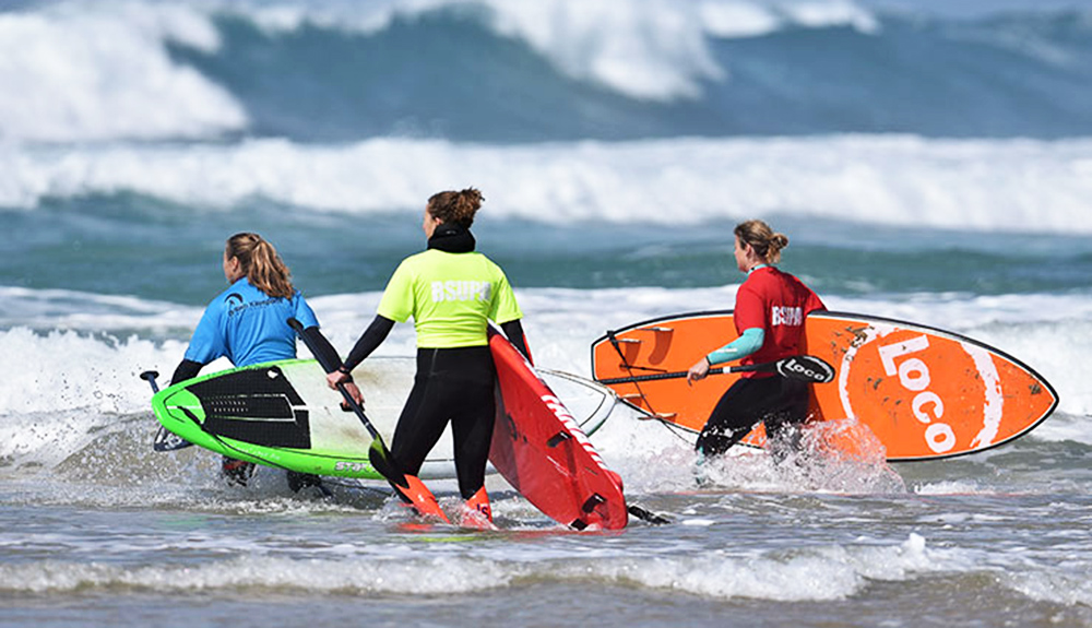 Ladies-Surfing-Watergate-bay-legend of the bay
