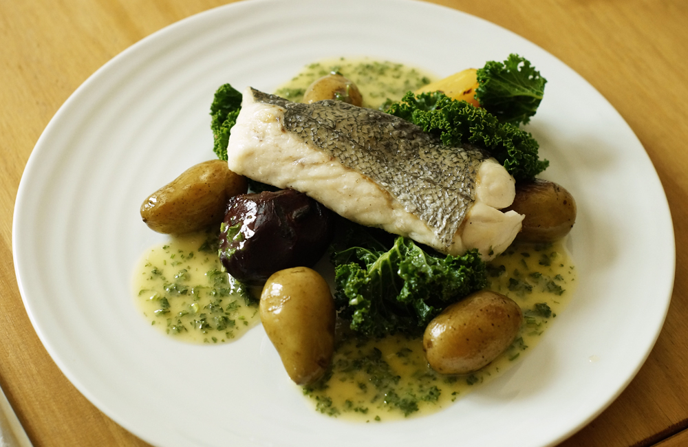 Hake, Penrose Kitchen, Truro, Cornwall