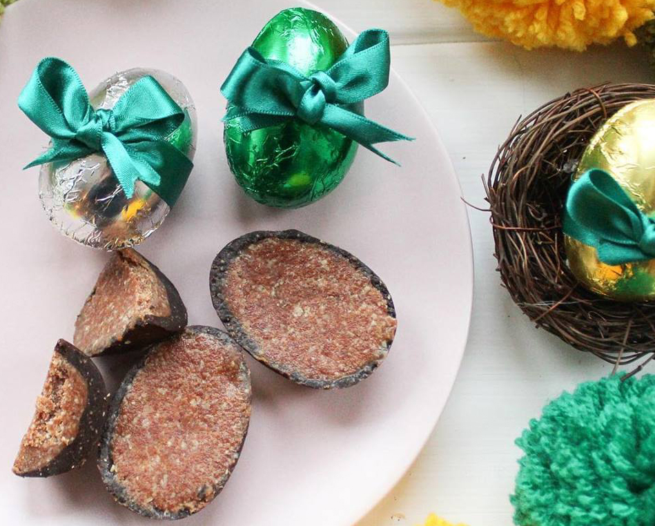 Raw Chocolate Pie Little Easter Eggs