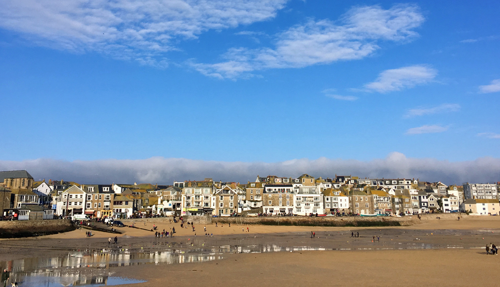 St Ives harbour in the sunshine
