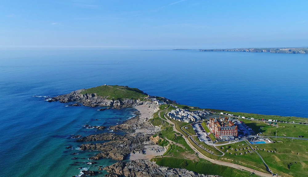 Headland Hotel Newquay Arial photo