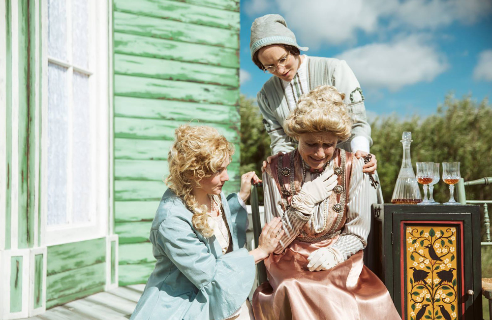 Miracle Theatre, The Cherry Orchard, outdoor theatre Cornwall