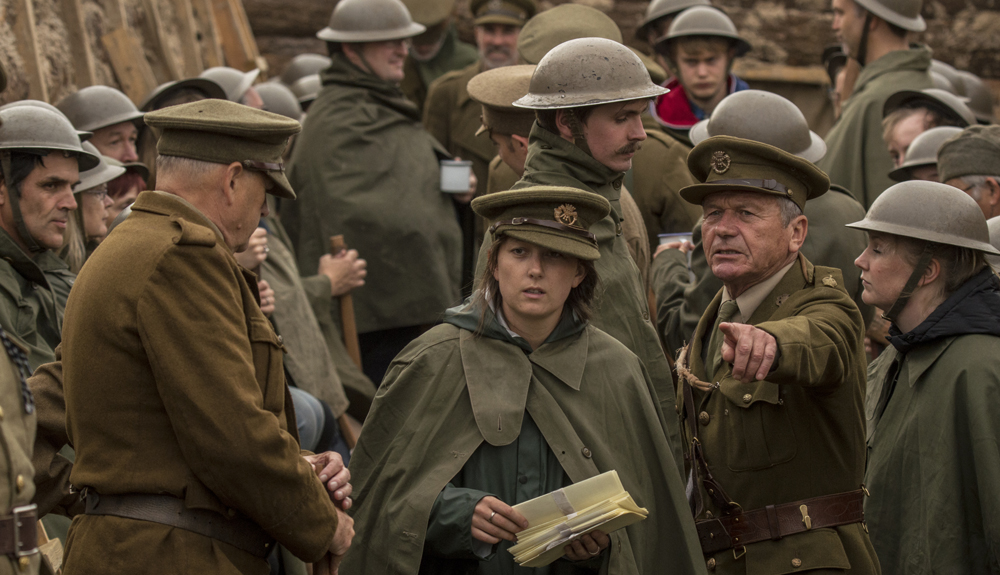 Handing out letters home, The Trench Bodmin