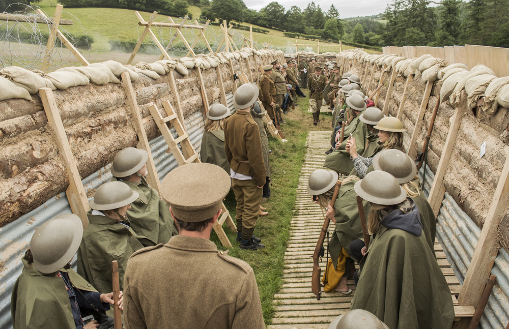 The Trench Bodmin Review, replica WW1 trench