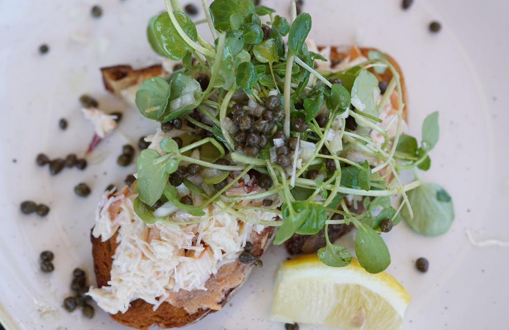 The Longstore Steaks and Seafood, Restaurant Review, Charlestown, Cornwall, Crab on Toast