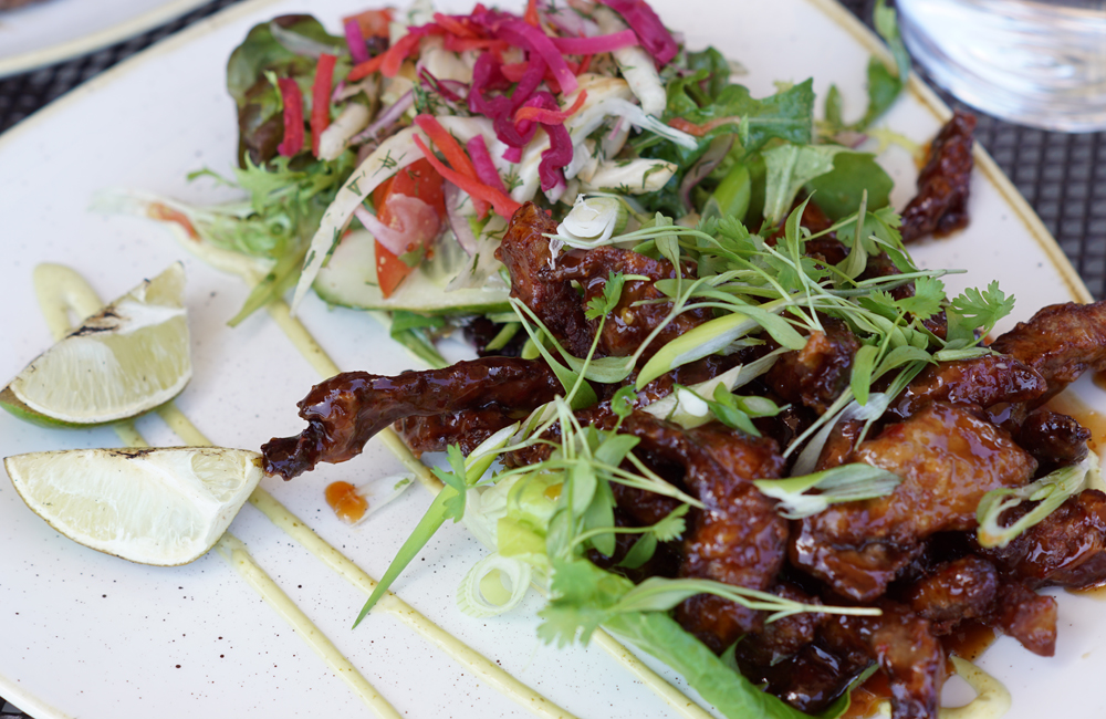The Longstore Steaks and Seafood, Restaurant Review, Charlestown, Cornwall, Sticky Beef Salad