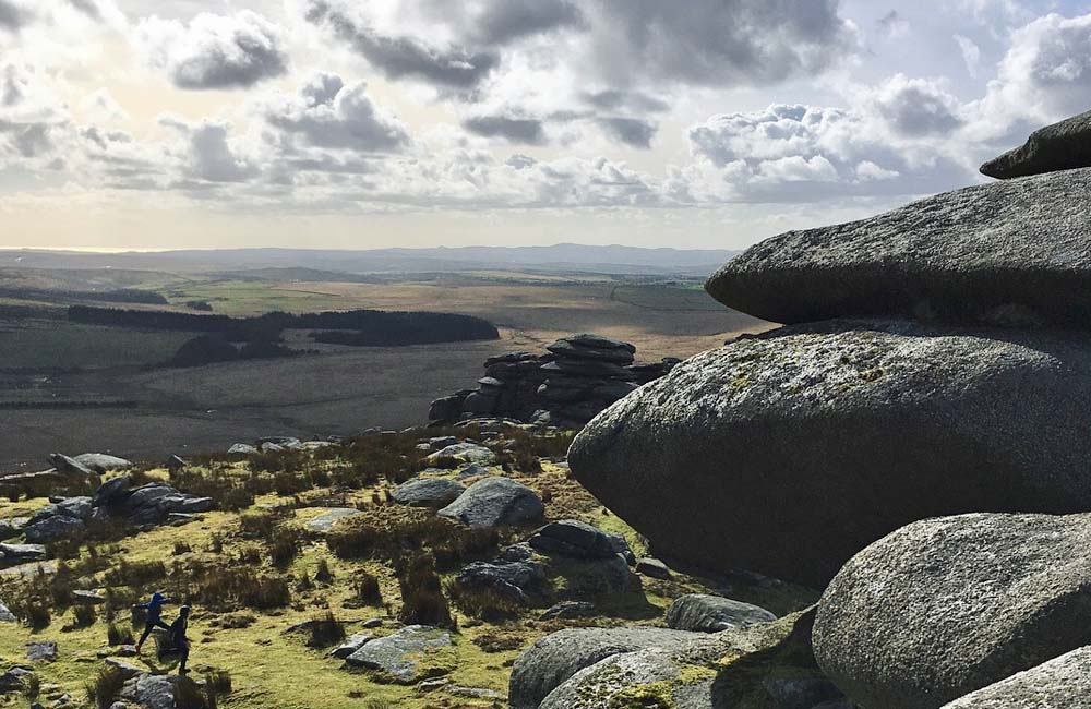 The View from Rough Tor Cornwall
