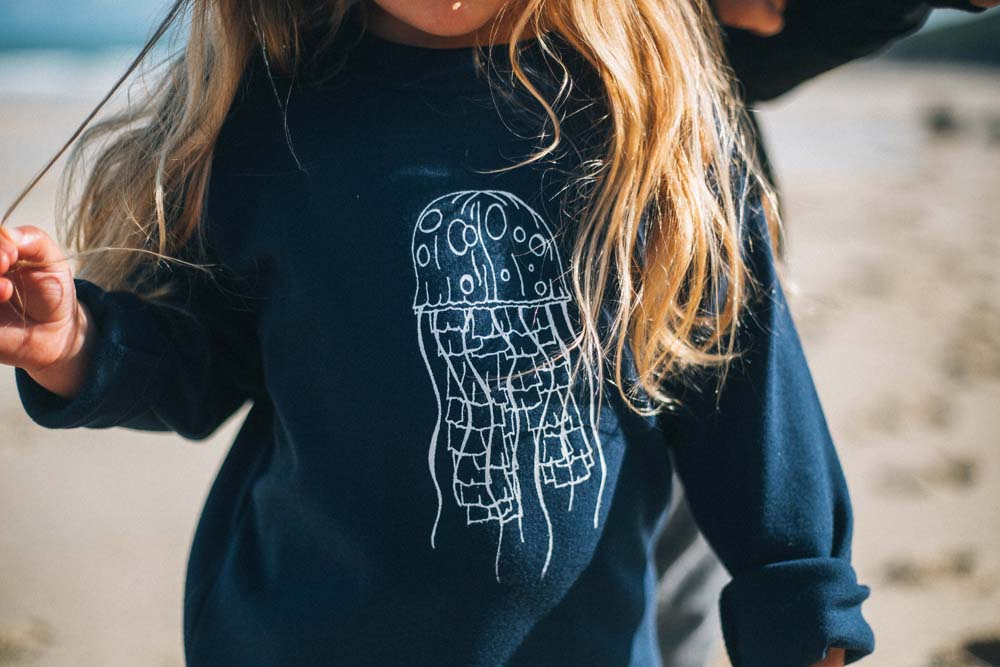 Wild Rock Unisex Children's Clothing Cornwall Jellyfish sweatshirt