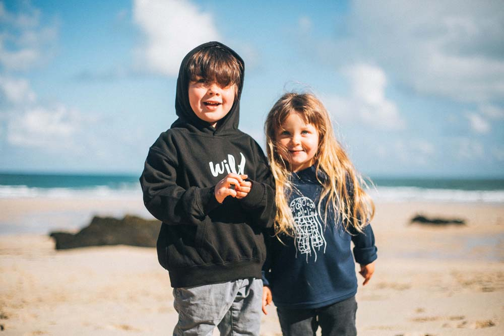 Wild Rock Unisex Children's Clothing Cornwall 'Wild' and Jellyfish Sweatshirt