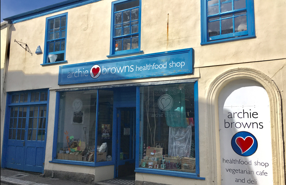 Archie Browns Health Food Shop Truro Cornwall