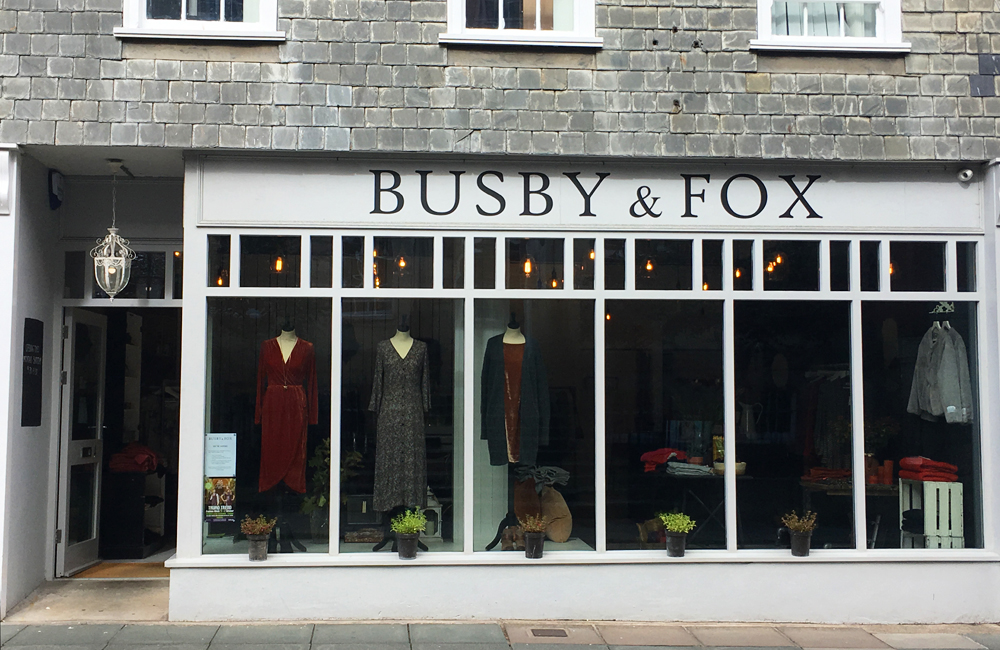 Busby & Fox Boutique Truro Cornwall