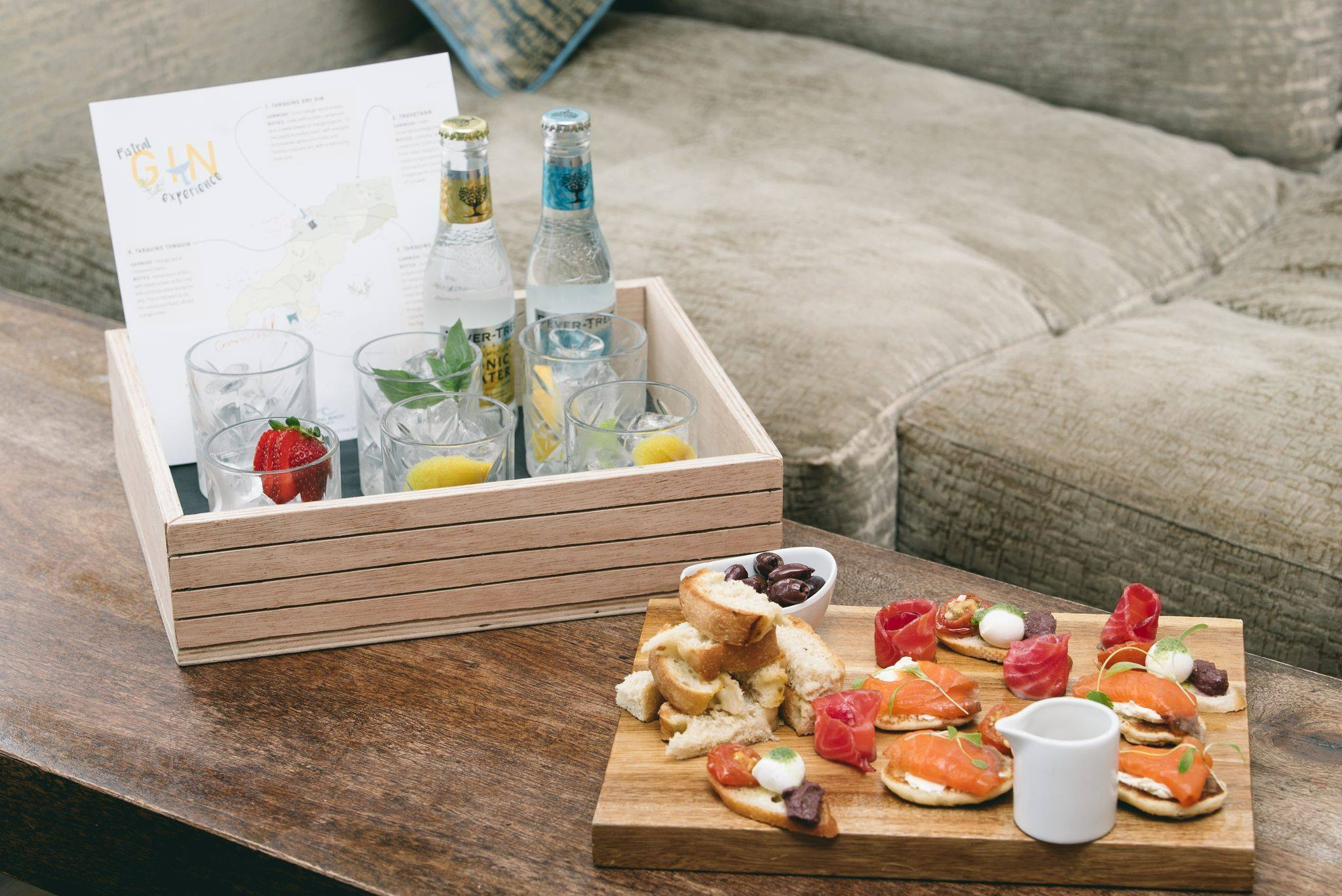 Fistral Beach Hotel and Spa Gin taster