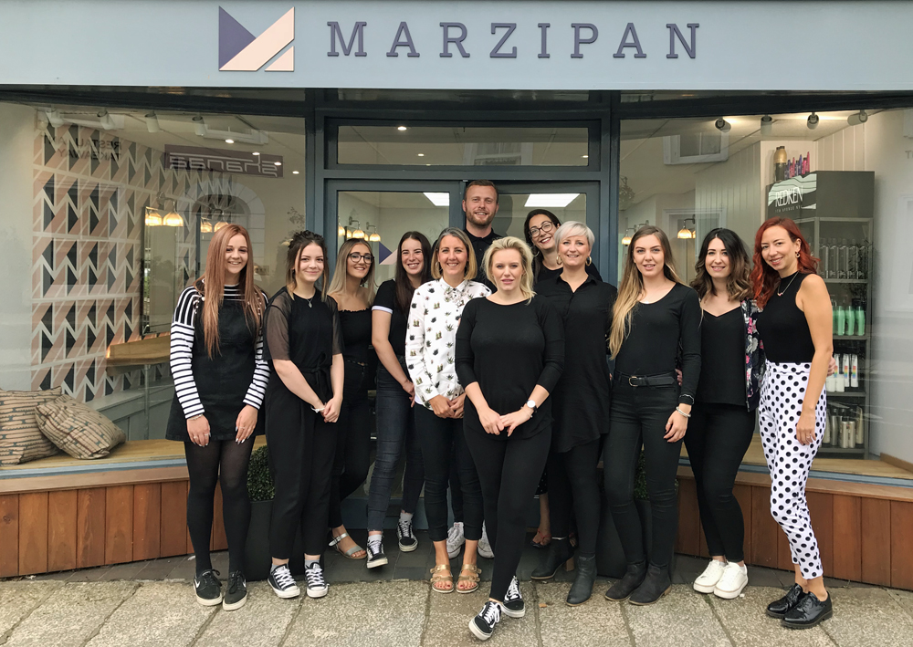 Marzipan Hair Salon Truro Muddy Stilettos Review Team Photo