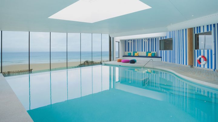 the swimming pool at watergate bay hotel