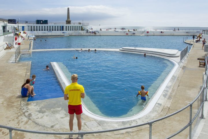 Jubilee Pool, an Art Deco lido in Penzance, with it's new geothermal pool