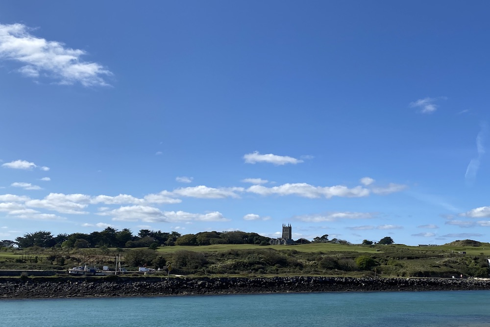 lelant west cornwall golf course viewed from north quay hayle